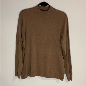 NEW !! CHICO'S brown mock neck sweater